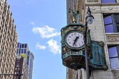 Old Clock, Chicago, Illinois, USA.  Stock Photography