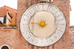 Old clock of the Church in Venice Royalty Free Stock Images