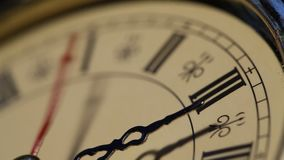 Old Clock close up footage. Close up of a old analogclockface stock footage