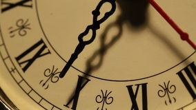 Old Clock close up footage Stock Photo