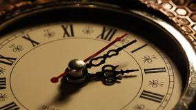Old Clock close up footage. Close up of a old analogclockface stock video footage