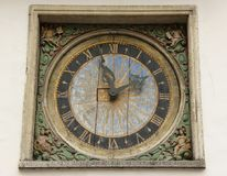 Old Clock Dial Royalty Free Stock Images