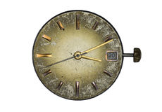 Old clock dial. Isoleted on white background Royalty Free Stock Photo