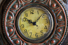 Old clock face. A Closeup image of old clock face stock photo