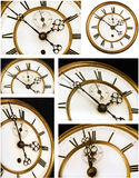 Old Clock Face Six Views Stock Image