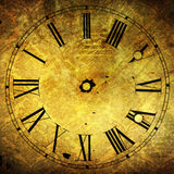Old clock face with attractive grunge textures Stock Photography