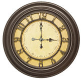 Old clock face three isolated background Royalty Free Stock Images