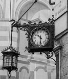 Old clock in Florence city center Royalty Free Stock Photos