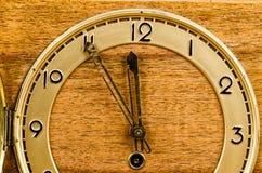 Old clock full frame Stock Photo