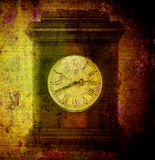 Old clock on grunge Stock Image