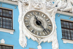 Old clock on the historic building Royalty Free Stock Images