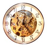 Old Clock isolated. Old Gold White Clock isolated stock photography