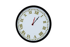 Old clock isolated Stock Photography