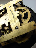 Old clock mechanism. An old scratched clock mechanism Royalty Free Stock Photography