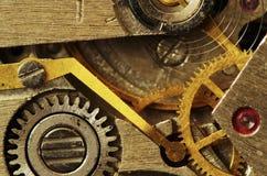 Old clock mechanism. Closeup of old metal clock mechanism Royalty Free Stock Image