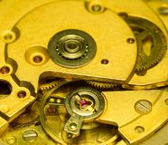 Old clock mechanism. Abstract background Royalty Free Stock Images