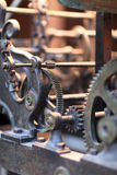 Old clock mechanism. The old clock mechanism in Rhodes town, Greece Royalty Free Stock Photo