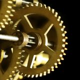 Old clock mechanism. Close up photo of a old clock mechanism Royalty Free Stock Photography