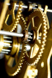 Old clock mechanism. Photo of a old clock mechanism Stock Photos