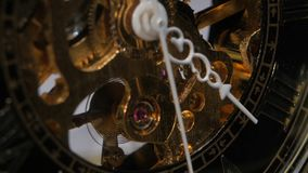 Old clock mechanism. Close up stock video