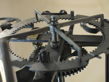 Old clock mechanism. Close-up view Stock Photo