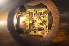 Old clock mechanism Royalty Free Stock Images