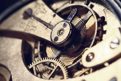 Old clock mechanism Stock Images