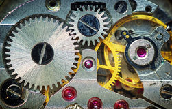 Old clock mechanism. Element of design Stock Photo