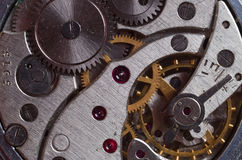 Old clock mechanism Royalty Free Stock Photography