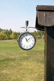 Old clock in the nature Stock Photography