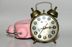Old clock and new clock Royalty Free Stock Image