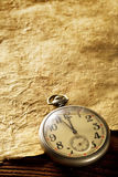 Old Clock and paper Royalty Free Stock Photography