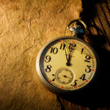 Old Clock and paper Stock Photography