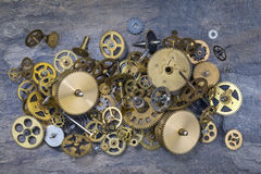 Old Clock Parts - Cogs, gears, wheels Stock Image