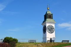 Old clock on the Petrovaradin Tower Royalty Free Stock Images