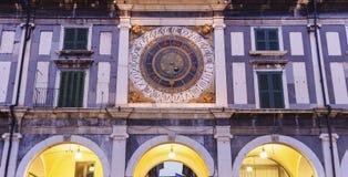Old clock on Piazza della Loggia Royalty Free Stock Photo