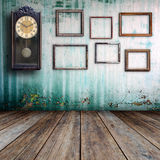 Old clock and picture frame Stock Photo