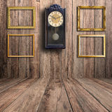 Old clock and picture frame Royalty Free Stock Photos