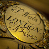 Old clock plate Royalty Free Stock Images