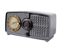 Old clock radio Royalty Free Stock Image