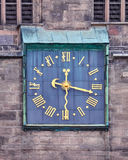 Old clock with Roman numbers Royalty Free Stock Photography