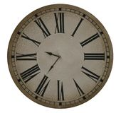 Old Clock With Roman Numerals. Face of an old clock with roman numerals royalty free stock photos