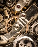 Old clock's gears Royalty Free Stock Images