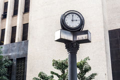 Old clock in Sao Paulo Downtown, Brazil Royalty Free Stock Images