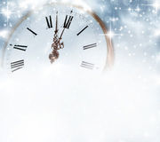 Old clock with stars and snowflakes royalty free stock photos