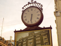 old clock on street in Bucharest Stock Photo