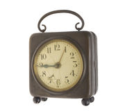Old clock with tag Stock Images