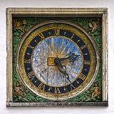 Old clock in Tallinn, Estonia, Europe Stock Photo
