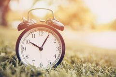 Old clock times vintage color memory royalty free stock image