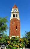 Old clock tower. Old clock tower in the center of Niagara on the Lake, a very beautiful and historical town. It is situated where the Niagara Stock Image